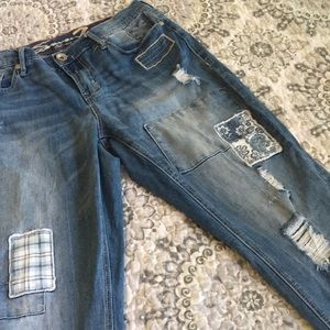 Distressed patches Seven 7 jeans skinny